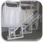 Feed mill tote bag system