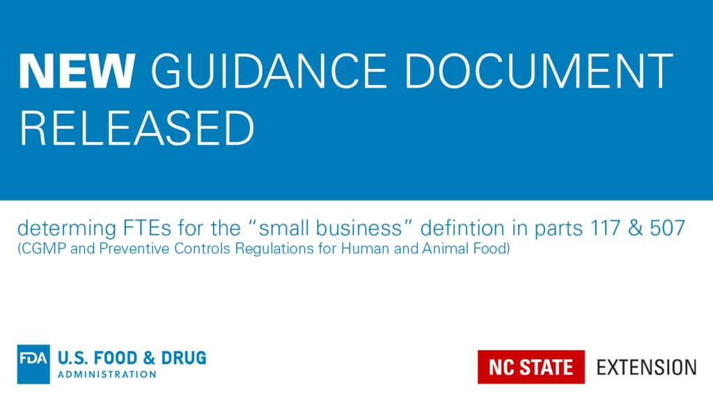 blue and white announcement of a new FDA guidance document