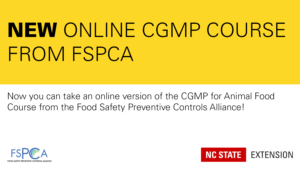 black and yellow announcement of a new CGMP course