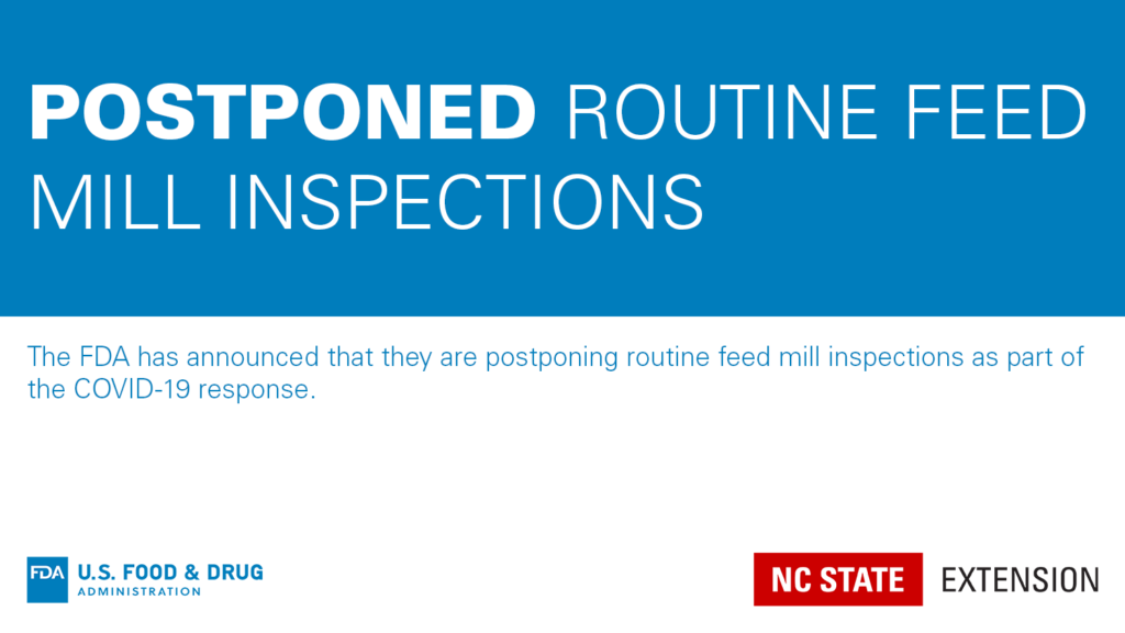 FDA postponing inspections graphic