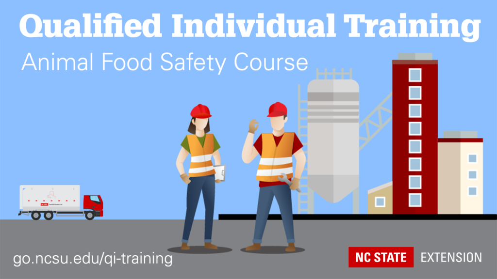 graphic with text: qualified individual animal food safety course