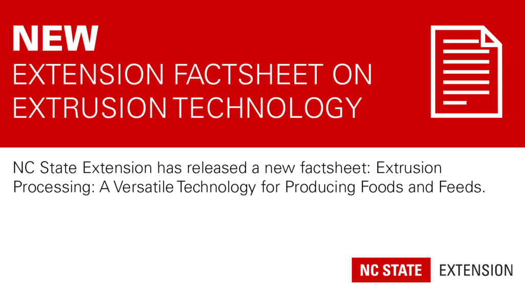 Red banner with text New: Extension Factsheet on Extrusion Technology