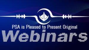 Blue banner announcing PSA's new webinar series