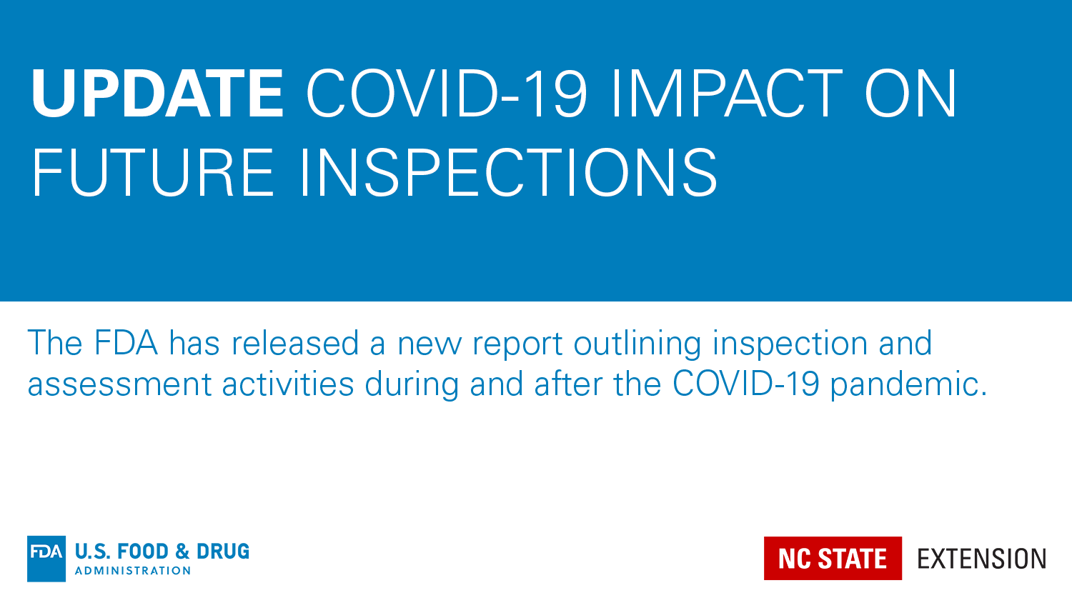 COVID-19 Impacts on future inspections banner image