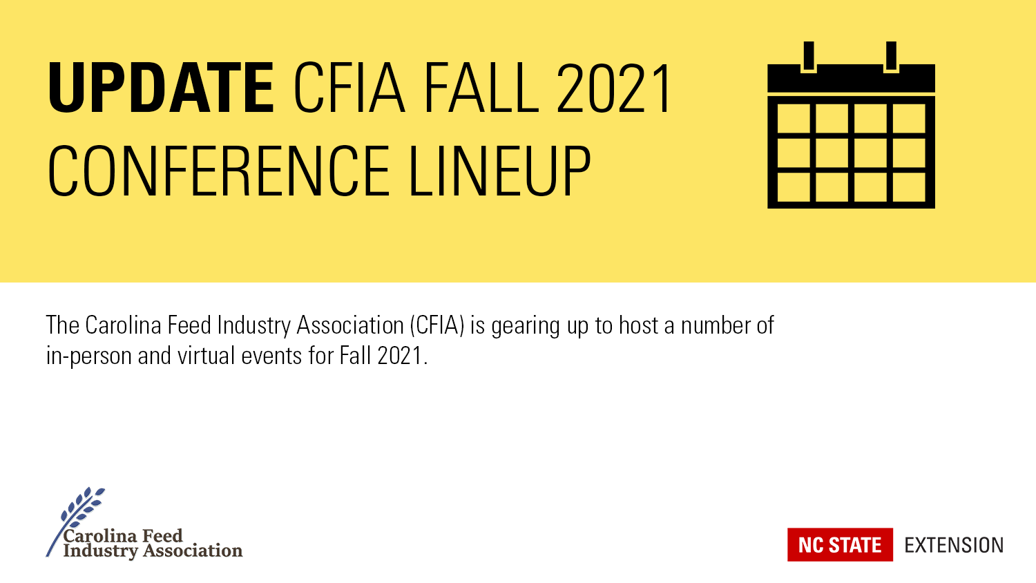 CFIA Fall 2021 Conference lineup banner