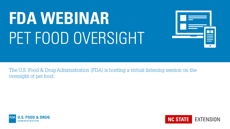 FDA Webinar on Pet Food Banner Image