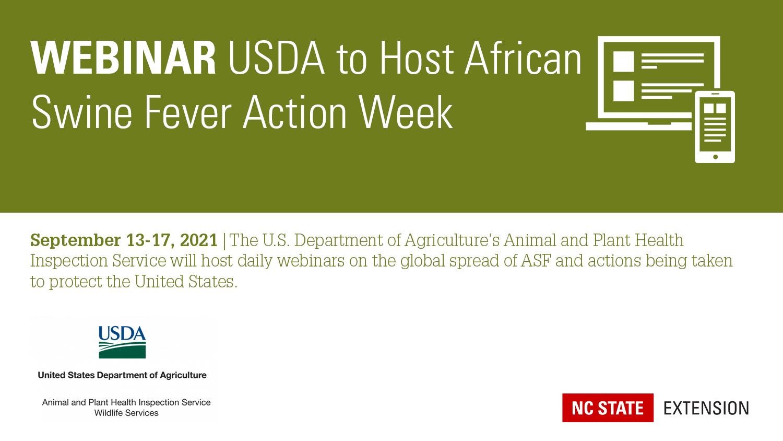 USDA ASF Action Week Banner Image