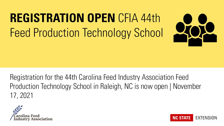 CFIA Registration open for feed tech school banner